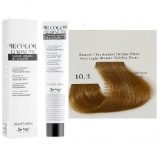 Vopsea De Par Blond Auriu Super Deschis Extra Be Hair-Be Color 12 min, fara amoniac, 10.3, 100ml