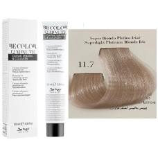 Vopsea De Par Super Blond Platinat Iris Be Hair-Be Color 12 min, fara amoniac, 11.7, 100ml