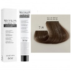 Vopsea De Par Castaniu Bej  Be Hair-Be Color 12 min, fara amoniac, 7.8, 100ml