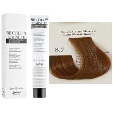 Vopsea De Par Blond Maroniu Deschis Be Hair-Be Color 12 min, fara amoniac, 8.7, 100ml