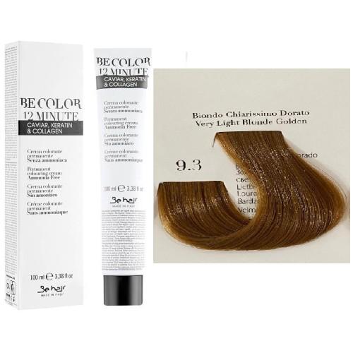 Vopsea De ParAuriu Foarte Deschis Be Hair-Be Color 12 min, fara amoniac, 9.3, 100ml