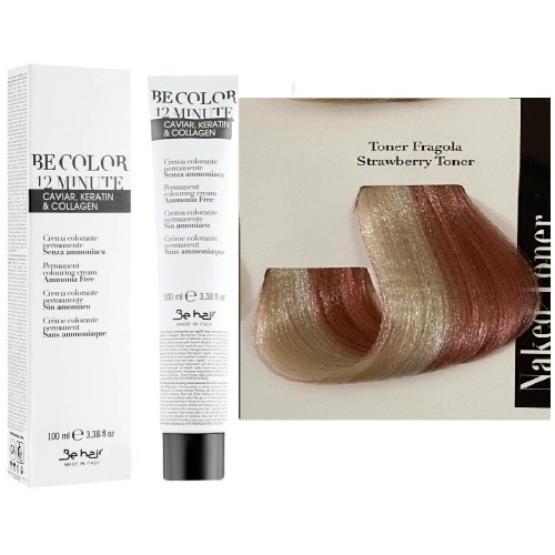 Vopsea De Par Toner Strawberry Be Hair-Be Color 12 min, fara amoniac, 100ml