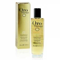 Ulei de par cu argan-Oro puro, Fanola Oro Therapy  Fluido illuminante, 100 ml