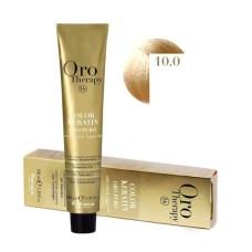 Vopsea fara amoniac - Fanola Oro Therapy Color Keratin -10.0 blond platinat