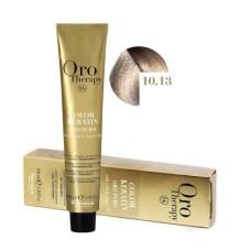 Vopsea fara amoniac - Fanola Oro Therapy Color Keratin - 10.13 blond platinat bej extra 100 ml