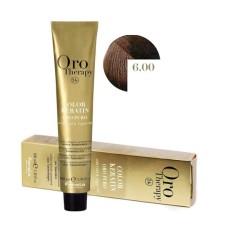 Vopsea fara amoniac - Fanola Oro Therapy Color Keratin-6.00 blond inchis intens