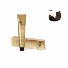 Vopsea fara amoniac - Fanola Oro Therapy Color Keratin - 6.13 blond inchis bej