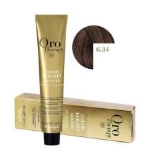 Vopsea fara amoniac - Fanola Oro Therapy Color Keratin -6.34 blond inchis auriu aramiu