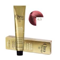 Vopsea fara amoniac - Fanola Oro Therapy Color Keratin - 6.5 blond inchis mahon