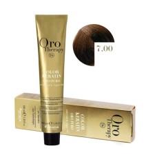 Vopsea fara amoniac - Fanola Oro Therapy Color Keratin-7.00 blond intens