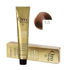 Vopsea fara amoniac - Fanola Oro Therapy Color Keratin - 7.3 blond auriu