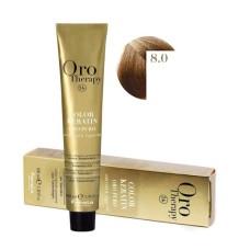 Vopsea fara amoniac - Fanola Oro Therapy Color Keratin - 8.0 blond