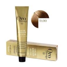 Vopsea fara amoniac - Fanola Oro Therapy Color Keratin - 9.00 blond foarte deschis 100 ml