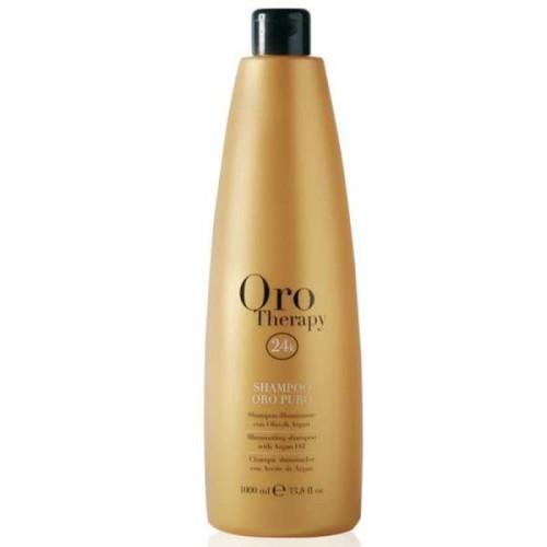Sampon cu ulei de argan si protectie UV Fanola Oro Therapy, 1000 ml