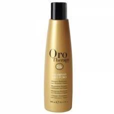 Sampon cu ulei de argan si protectie UV Fanola Oro Therapy, 300 ml