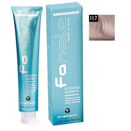 Vopsea De Par Blond Super Platinat Irizat 11.7 ,Fanola, Uz Profesional,100 ml