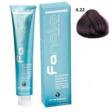 Vopsea de par Fanola castaniu violet 4.22 Uz Profesional 100 ml