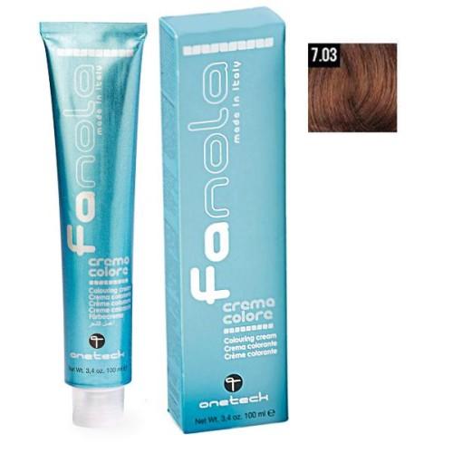 Vopsea de par Fanola blond cald 7.03 Uz Profesional 100 ml