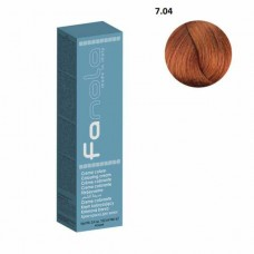 Vopsea De Par Blond Aramiu Natural 7.04, Fanola, Uz Profesional, 100 ml