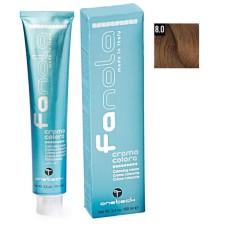 Vopsea de par Fanola blond deschis 8.0 Uz Profesional 100 ml