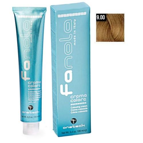 Vopsea De Par Blond Foarte Deschis Intens 9.00, Fanola, Uz Profesional, 100 ml
