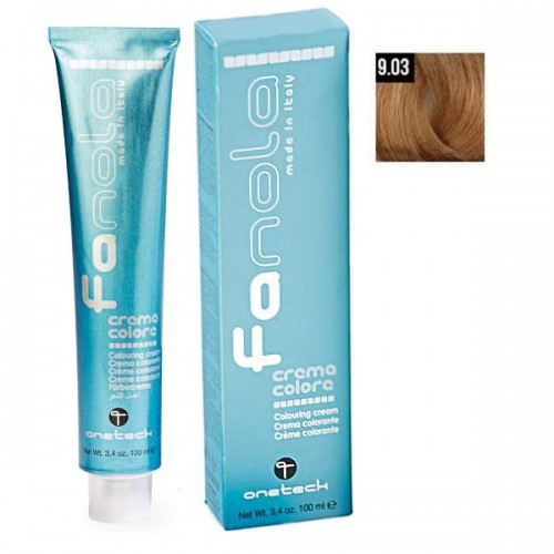Vopsea De Par Blond Cald Super Deschis 9.03, Fanola, Uz Profesional,100 ml