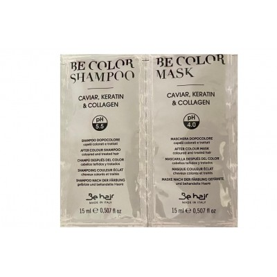 Sampon + Masca - Be Color  Be Hair After Colour Shampoo 15ml + Mask 15ml